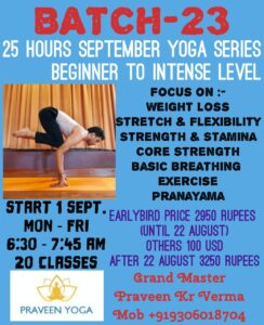 batch23  25 hoursspecial september yoga package weight